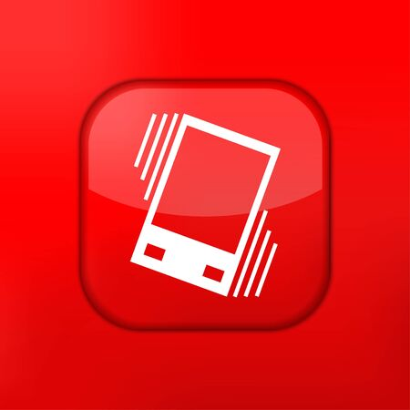 sleepiness: Vector red Vibration icon. Eps10. Easy to edit Illustration