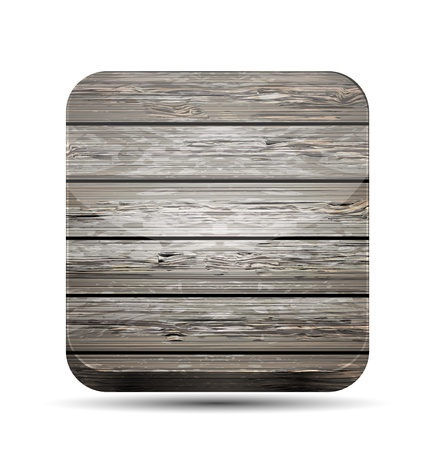 Vector wooden app icon on white background. Eps10 Stock Vector - 15708922