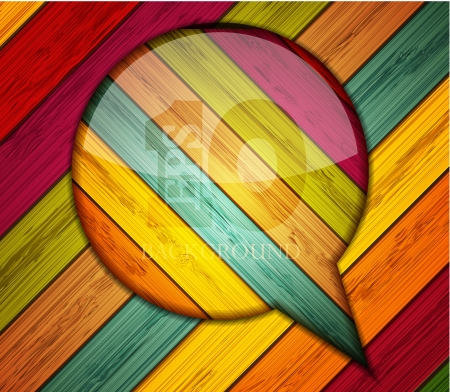 Vector colorful wooden bubble speech. Eps10 Vector