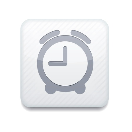 white clock icon.  Stock Vector - 15951581