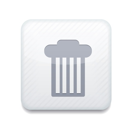 white bin icon.  Stock Vector - 15951582