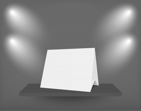 blank on shelf. Stock Vector - 15952528
