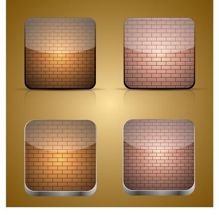 app brick icon Stock Vector - 15952637