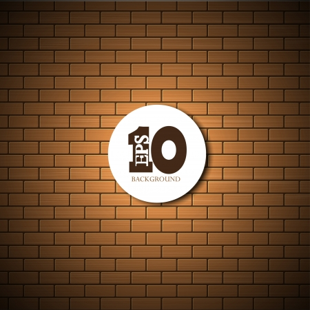 brick wall background with place for your text.  Vector