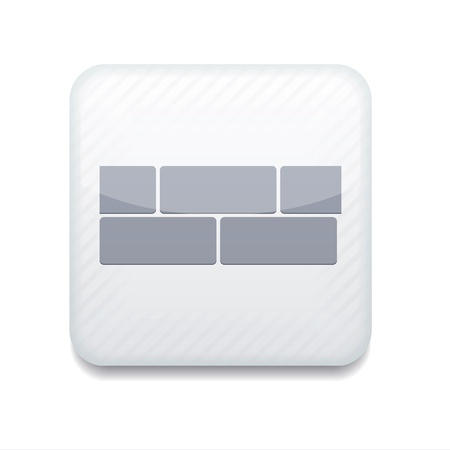 white brick icon. Vector