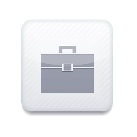 white Briefcase icon.  Vector