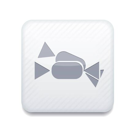 white candy icon.  Vector