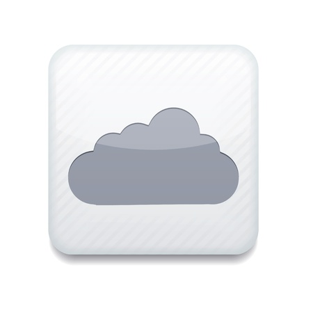 white cloud icon.  Vector