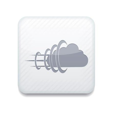 white cloud icon. Stock Vector - 15951587