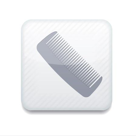 white comb icon. Stock Vector - 15952641