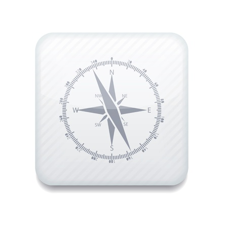 witte kompaspictogram.