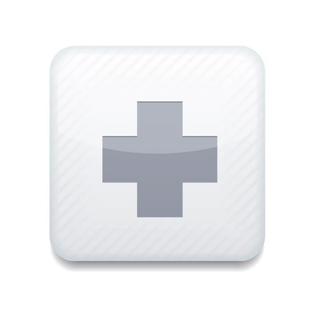 white cross icon.  Vector