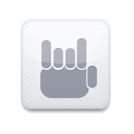white fingers fan icon. Vector