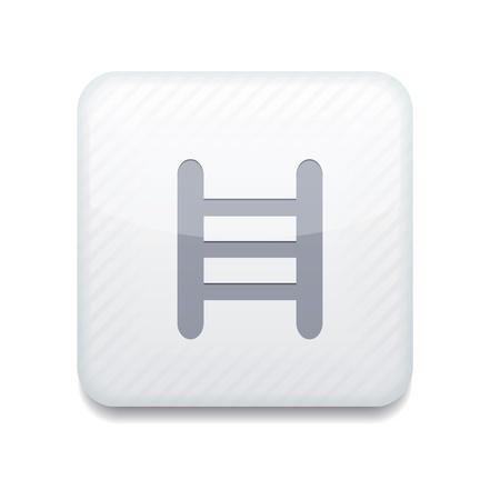 white ladder icon. Stock Vector - 15951752