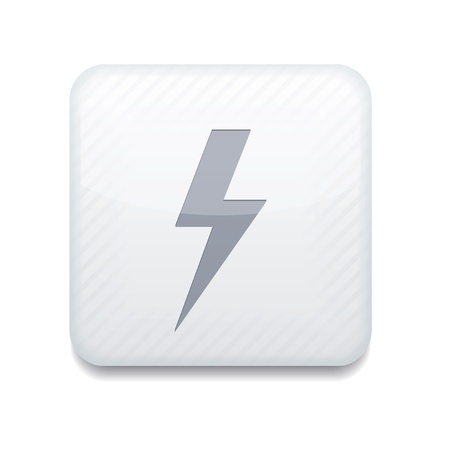 white  lightning icon.  Vector