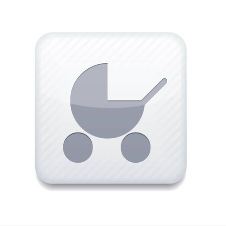 white pram icon.  Vector