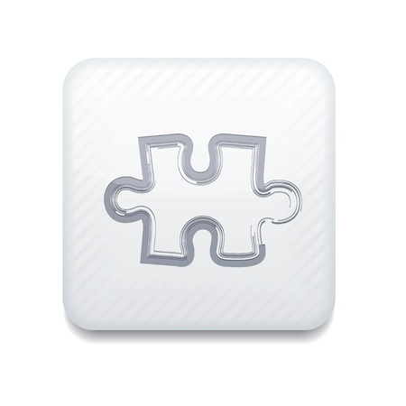 white puzzle icon. Stock Vector - 15952556