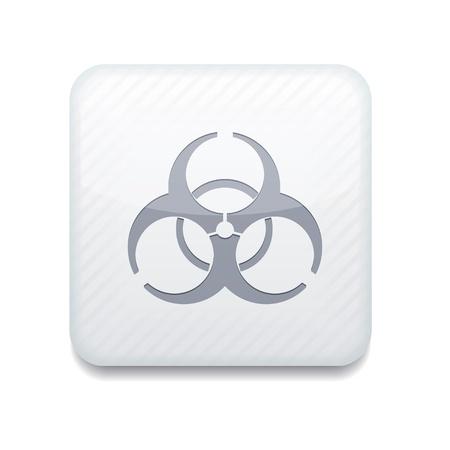 white radiation icon. Stock Vector - 15951950