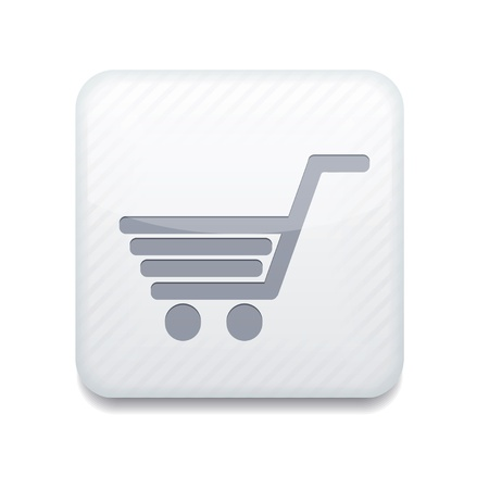 消費: 白いショッピング アイコン。
