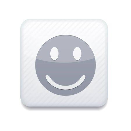 white smile icon. Stock Vector - 15951873