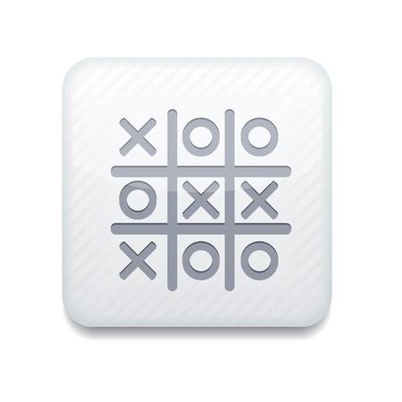 white Tic tac toe icon.