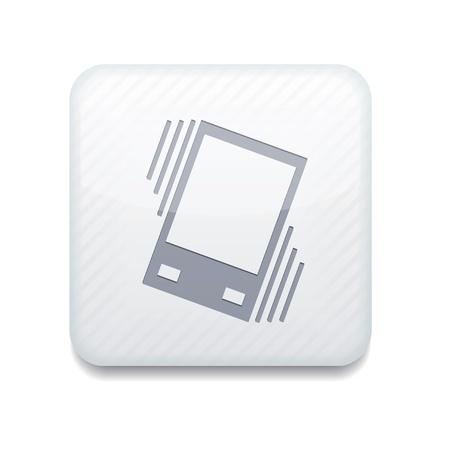 vibrating: white Vibration icon.