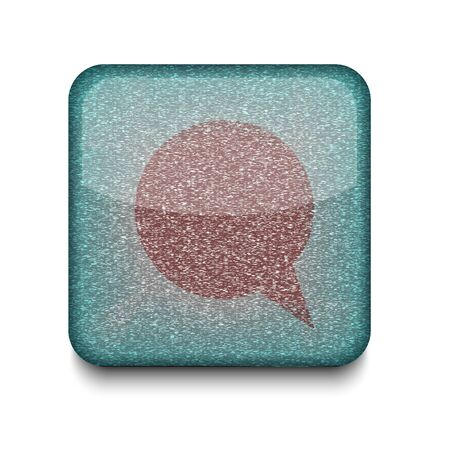 Vector Bubble speech icon.   Vector