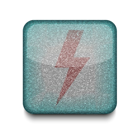 Vector  lightning icon.  Vector