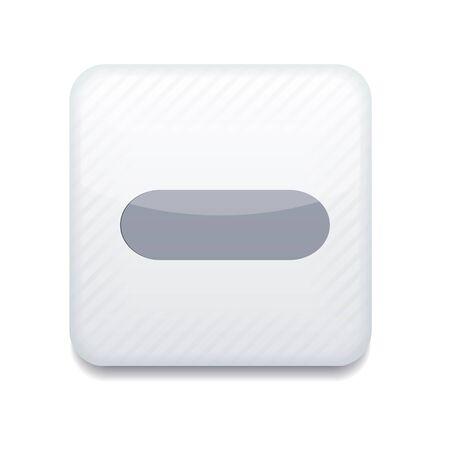 Vector app minus white icon. Stock Vector - 16200089