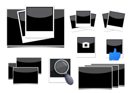 Vector photo set on white background.   Vector
