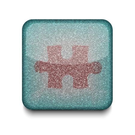 Vector puzzle icon. Stock Vector - 16198275
