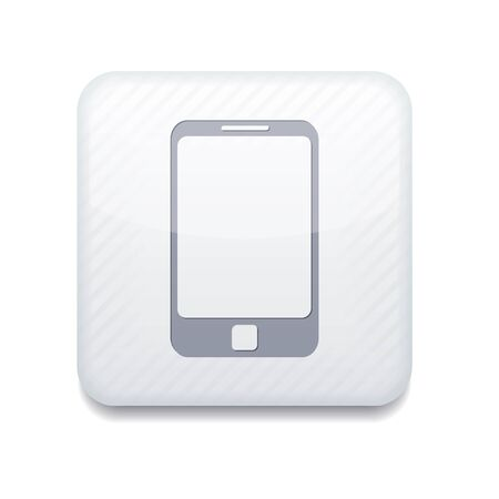 Vector app smartphone white icon  Stock Vector - 16200820