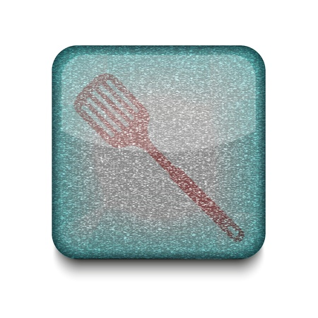 slotted: Vector slotted kitchen spoon icon.