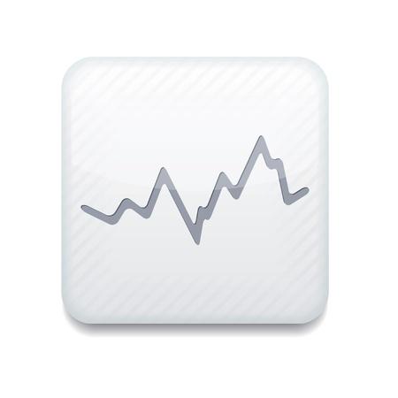 graficos de barras: Vector aplicaci�n blanco stock de iconos.