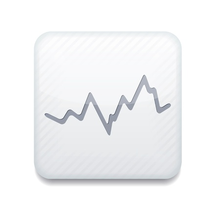 sales chart: Vector app stock white icon.   Illustration