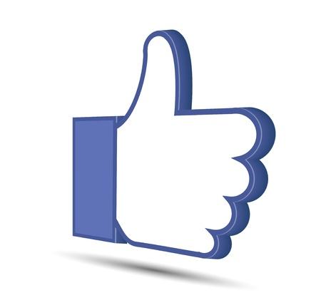 yes communication: Vector thumb up isolated on white  Illustration