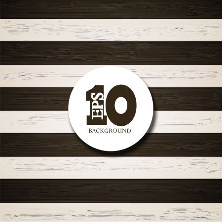Vector black and white wooden background. Eps10 Vector