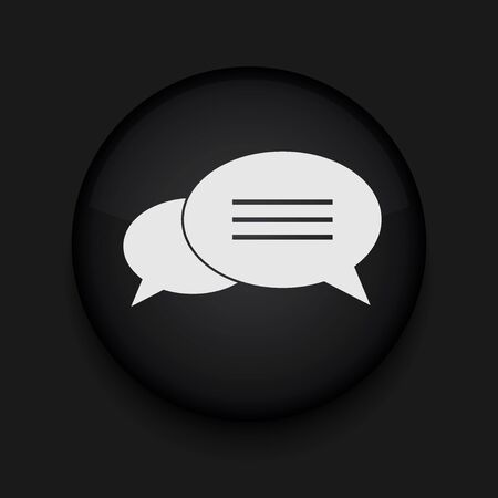 Vector Bubble speech icon. Eps10. Easy to edit Vector