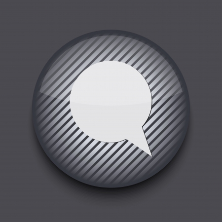 Vector app circle striped icon on gray background  Eps 10 Vector