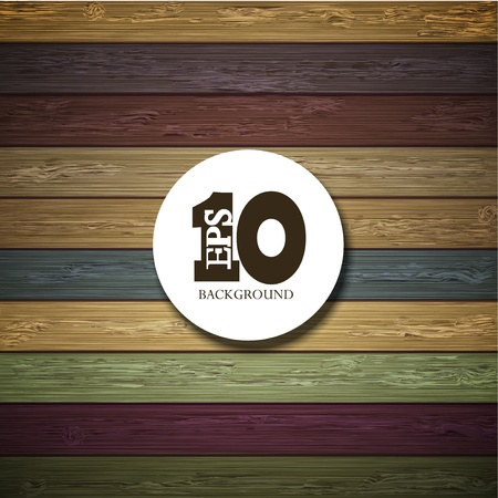 Vector colorful wooden background with place for your text. Eps10 Vector