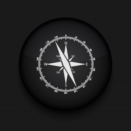 compass: Vector compass icon. Eps10. Easy to edit