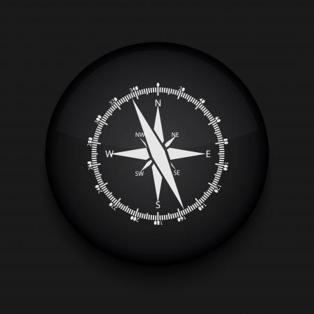 Vector kompaspictogram. Eps10. Gemakkelijk te bewerken