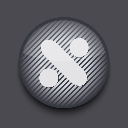Vector app circle striped icon on gray background. Eps 10 Stock Vector - 16773418