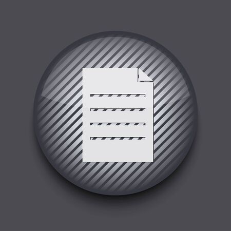 Vector app circle striped icon on gray background. Eps 10 Stock Vector - 16773379