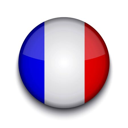 france painted: Vector creative circle flag on white background. Eps10