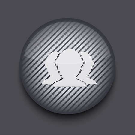 Vector app circle striped icon on gray background. Eps 10 Stock Vector - 16773412