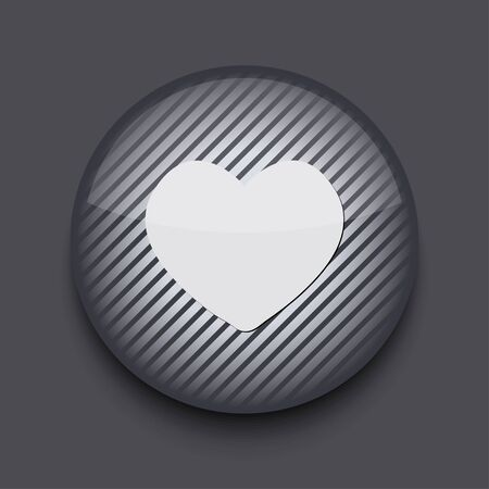 Vector app circle striped icon on gray background. Eps 10 Stock Vector - 16773369