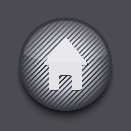 Vector app circle striped icon on gray background. Eps 10 Stock Vector - 16773399