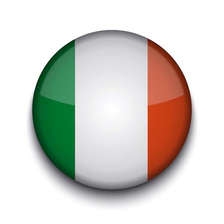 irish pride: Vector creative circle flag on white background. Eps10