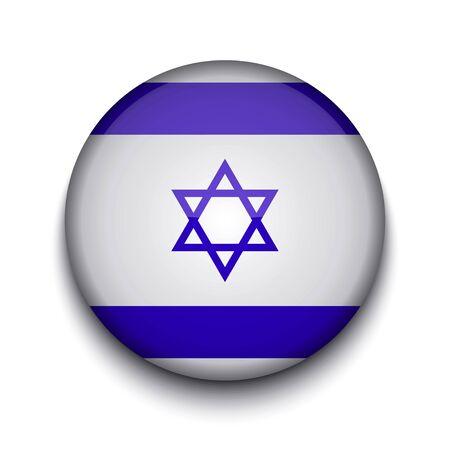 israelite: Vector creative circle flag on white background. Eps10
